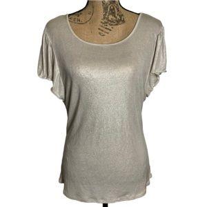 INC silver shimmer stretchy shirt